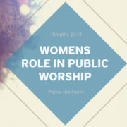 Women's Role in Public Worship Graphic